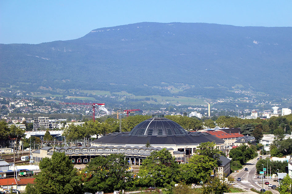 Rotonde ferroviaire de Chambéry en Savoie (France)