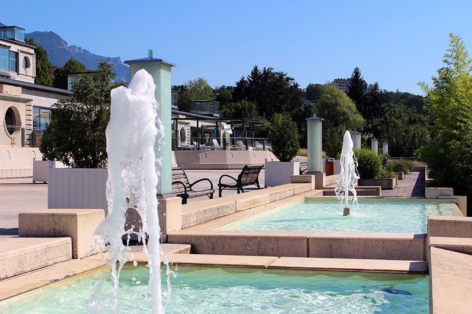 Thermes Chevalley à Aix-les-Bains en France dans le département de la Savoie