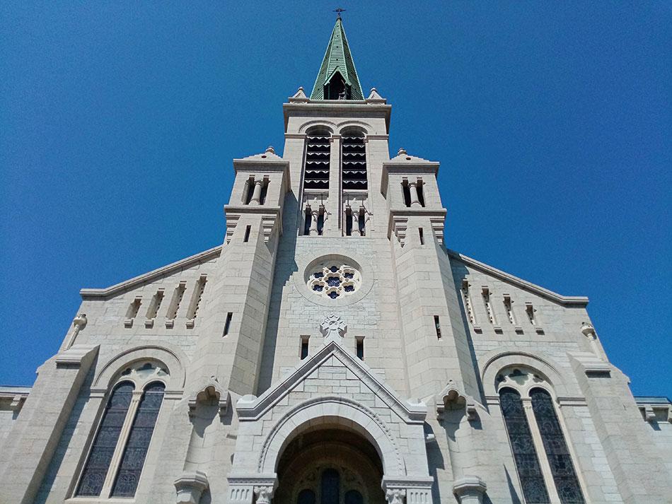 La cathédrale Notre-Dame d'Aix-les-Bains dans le département de la Savoie en France