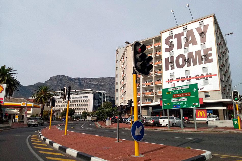 Célèbre façade au bout de la rue Long Street au Cap en Afrique du Sud