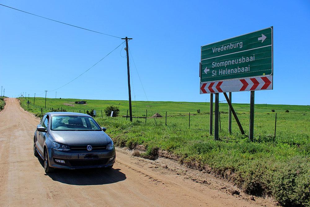 Route non-goudronnée sur la côte ouest sud-africaine