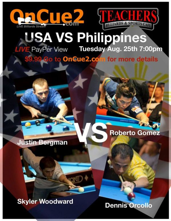 TONIGHT.....USA v Philippines....LIVE STREAM - AzBilliards.com