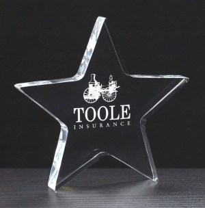 Acrylic Star Paperweight A6730