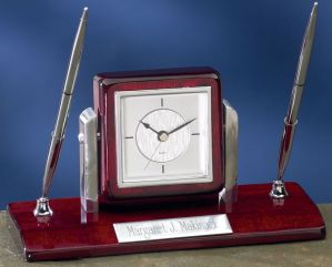 2220C Desk Clock Pen Set