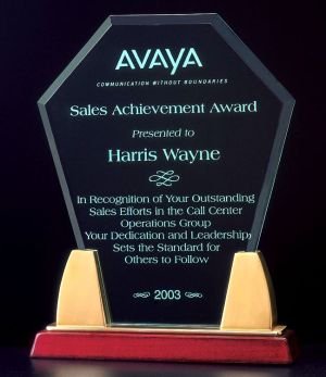 A6542 Hexagon Acrylic Award