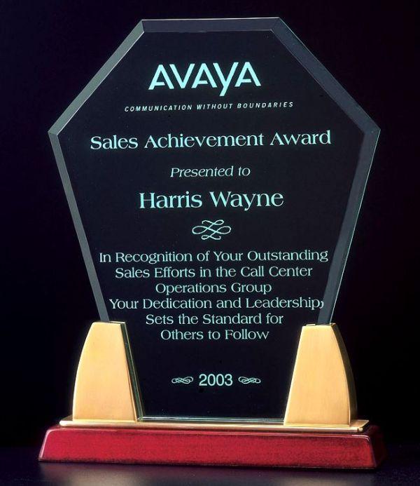 A6542 Hexagon Acrylic Award
