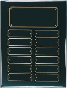 Black Perpetual Plaque 12 Plates BPP12
