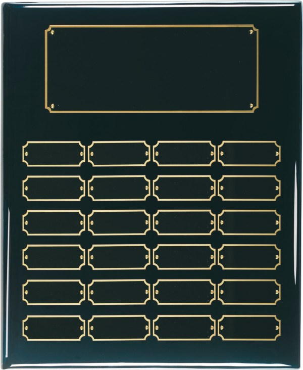 Black Perpetual Plaque 24 Plates BPP24