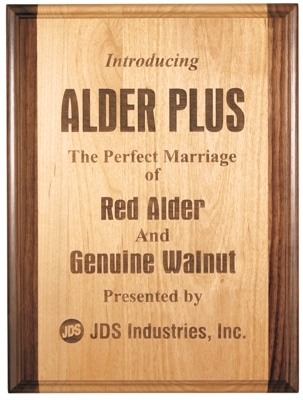 GAP810 & GAP912 Red Alder & Walnut Plaque