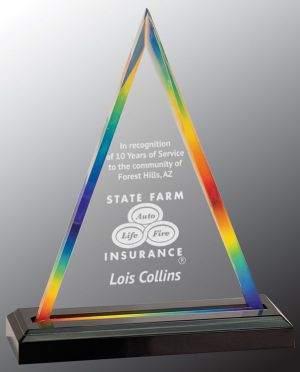 Rainbow Acrylic Trophy iMP801RBW