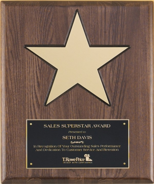 P4135 Star Plaque