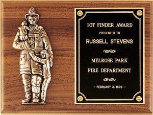 P7/X Firefighter Plaque