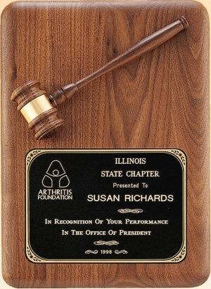 PG1687 Gavel Plaque