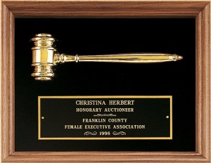 PG2440 Gavel Plaque