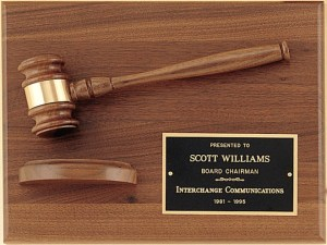 PG2786 Gavel Plaque
