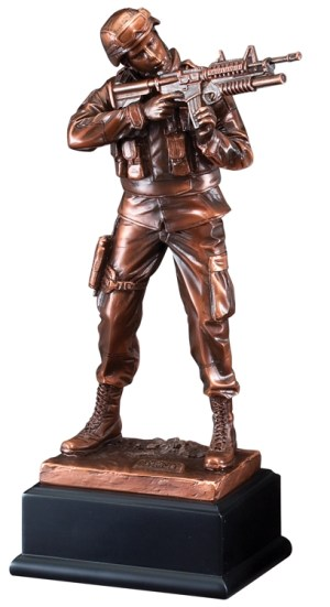 Army Soldier Resin Statue