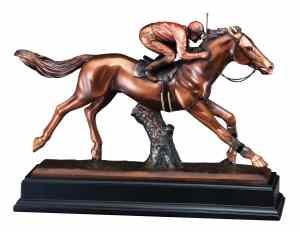 Jockey & Horse Statue RFB037