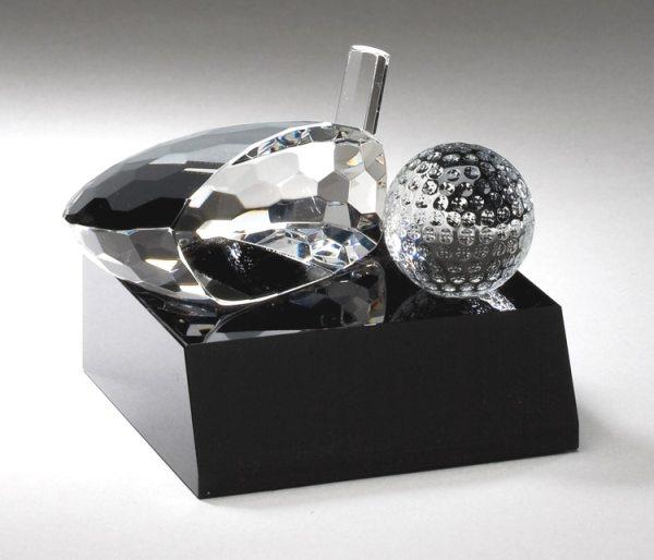 Crystal Golf Club Head And Ball Award CRY305