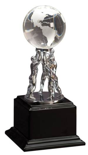 EX001 Team Building Crystal Globe Trophy Award