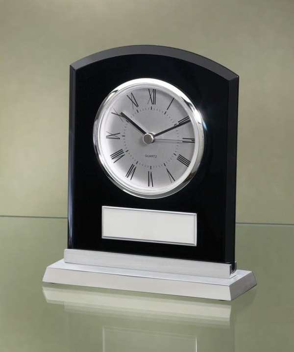 Black Acrylic Clock-3998