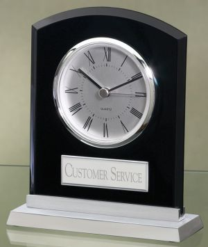 Black Acrylic Clock 2390BC