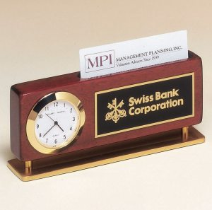 BC893 Clock And Business Card Holder