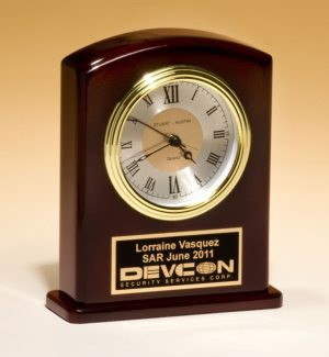 High gloss rosewood clock BC970