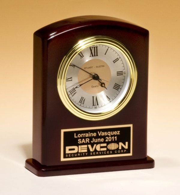 High gloss rosewood clock BC970
