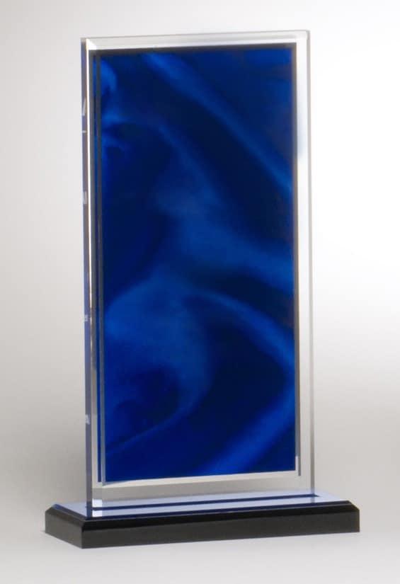 Blue Satin Acrylic Award-3984