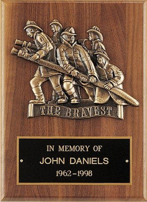 The Bravest Firefighter Plaque P3/X
