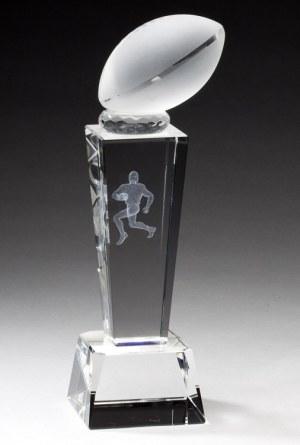 Crystal Football Trophy CRY212