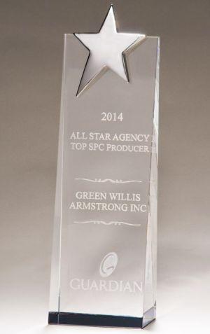 Silver Star Crystal Trophy K9079