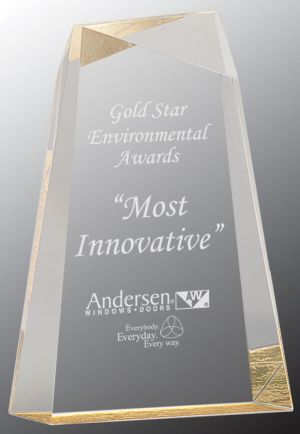 AWG8GD Acrylic Trophy