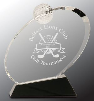 CRY013S Golf Trophy