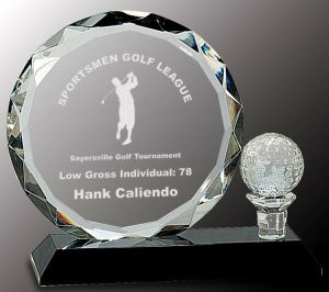 CRY026L Golf Trophy