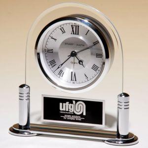 Silver Glass Clock BC999