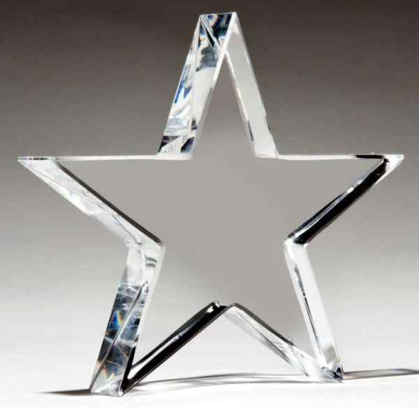 Crystal Star Paperweight K9251-blank