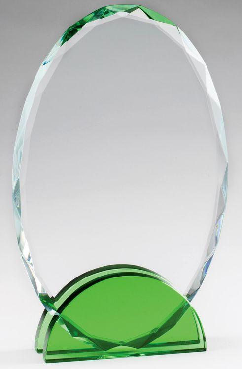 CRY476 Crystal Oval Award