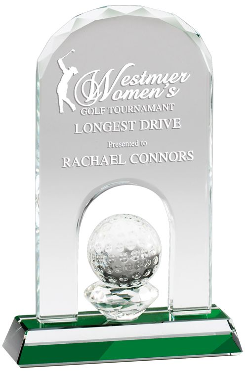 CRY521 Glass Golf Award