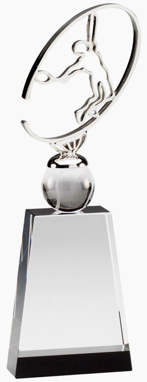 CRY532 Crystal Tennis Trophy