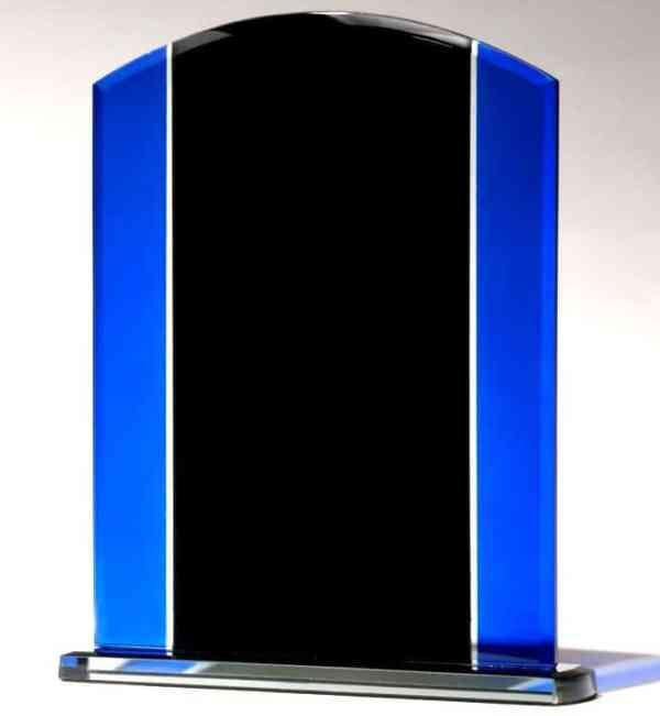 G2658, G2659 Black & Blue Glass Award-blank
