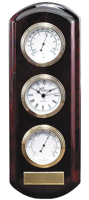 Thermometer Barometer Wall Clock