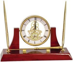 EX107 Gold Clock Desk Set