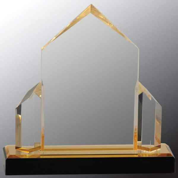 iMP135G Gold Jewel Acrylic Award