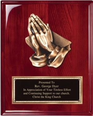 Praying Hands Plaque RP230DD