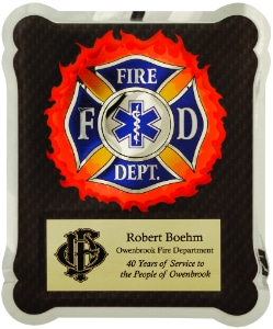 HER102 Firefighter EMT Plaque