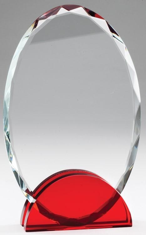 CRY569 Crystal Oval Award