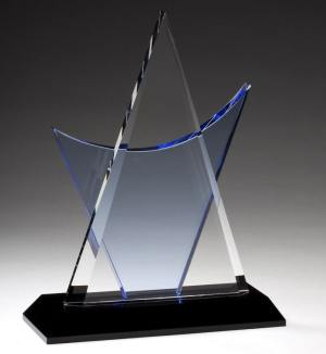 CRY250 Crystal Triangle Trophy