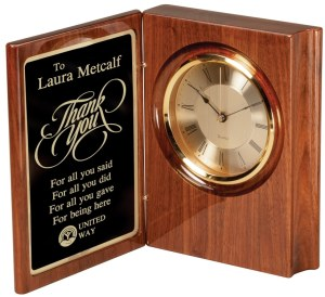 Walnut Book Clock WC37