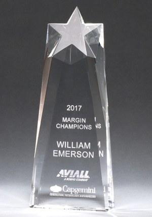 Crystal Star Trophy K9225 K9226 K9227
